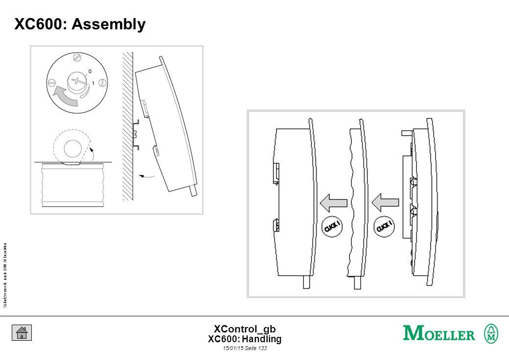 Schutzvermerk nach DIN 34 beachten 15/01/15 Seite 133 XControl_gb XC600: Assembly XC600: Handling