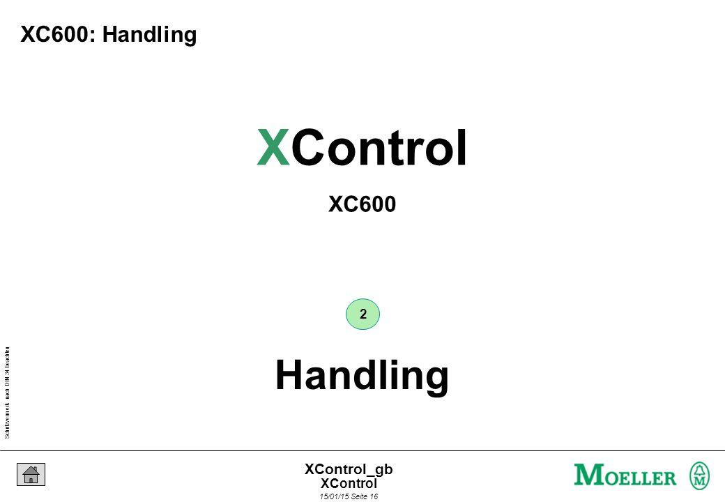 Schutzvermerk nach DIN 34 beachten 15/01/15 Seite 16 XControl_gb Handling 2 XControl XC600 XC600: Handling XControl