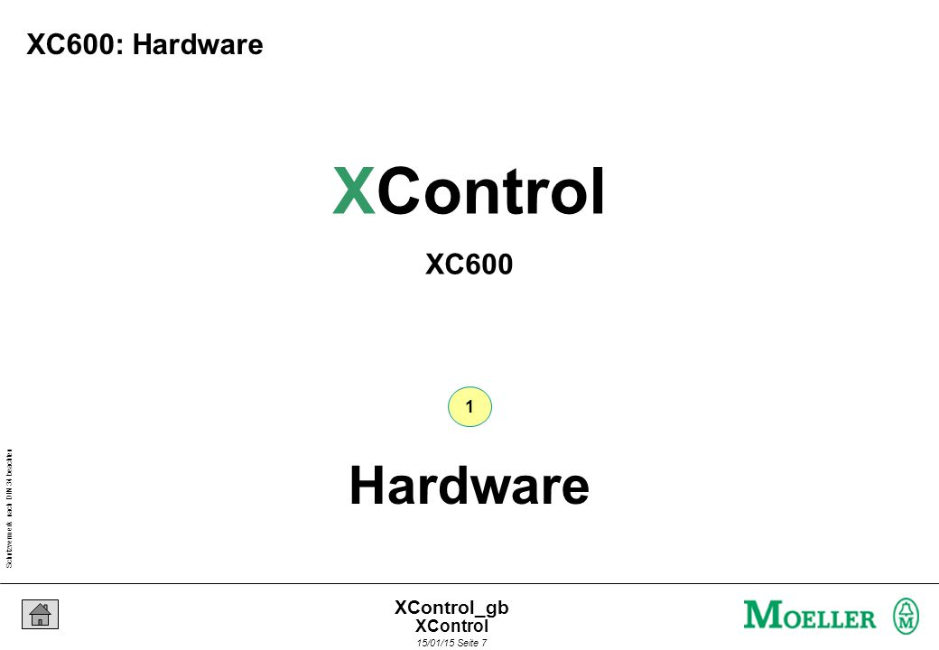 Schutzvermerk nach DIN 34 beachten 15/01/15 Seite 7 XControl_gb Hardware 1 XControl XC600 XC600: Hardware XControl