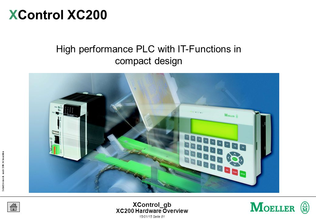 Schutzvermerk nach DIN 34 beachten 15/01/15 Seite 81 XControl_gb High performance PLC with IT-Functions in compact design XControl XC200 XC200 Hardware Overview