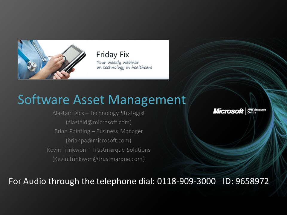 Agenda Overview – Microsoft perspective of Asset Management moving forward Tools available to assist Asset Management – System Center Config Manager – Asset Intelligence Software Asset Management – A LAR Perspective 2
