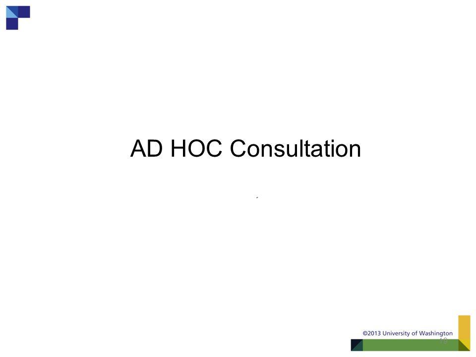 19 AD HOC Consultation