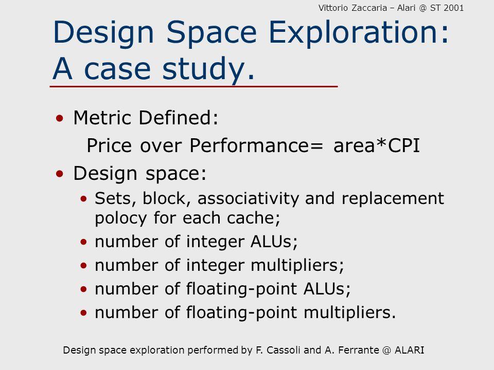 Vittorio Zaccaria – Alari @ ST 2001 Design Space Exploration: A case study.