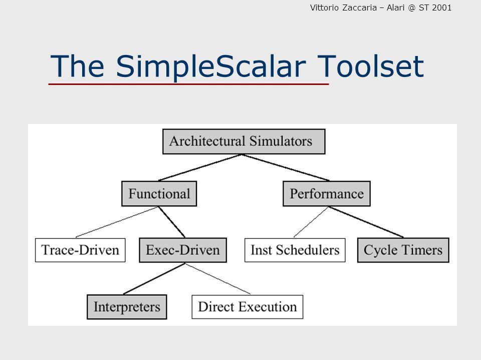 Vittorio Zaccaria – Alari @ ST 2001 The SimpleScalar Toolset