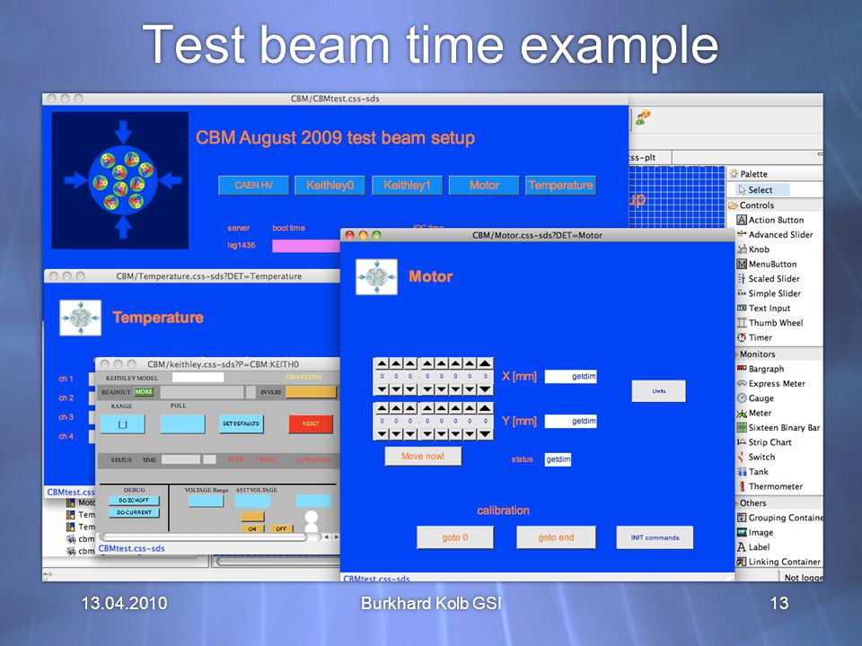 13.04.2010 Test beam time example Burkhard Kolb GSI13