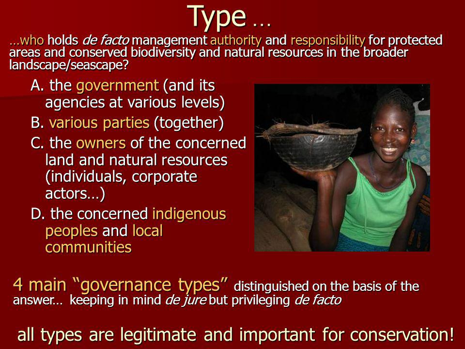 all types are legitimate and important for conservation.
