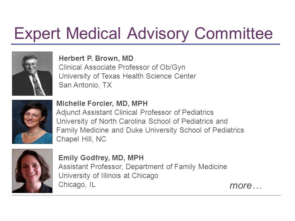 Expert Medical Advisory Committee Herbert P.