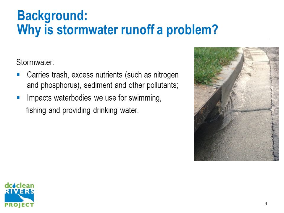 Background: Why is stormwater runoff a problem.