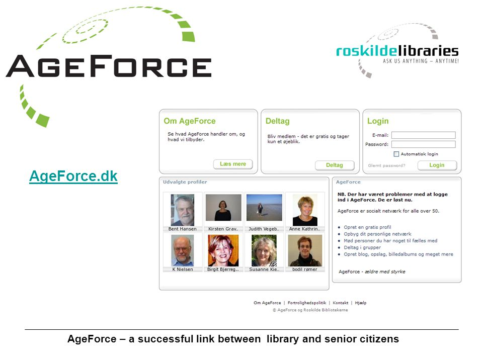 AgeForce – a successful link between library and senior citizens AgeForce.dk