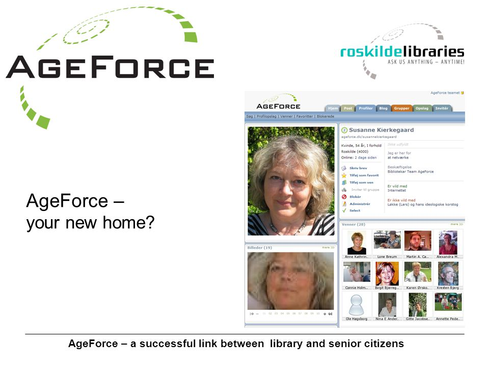 AgeForce – a successful link between library and senior citizens AgeForce – your new home
