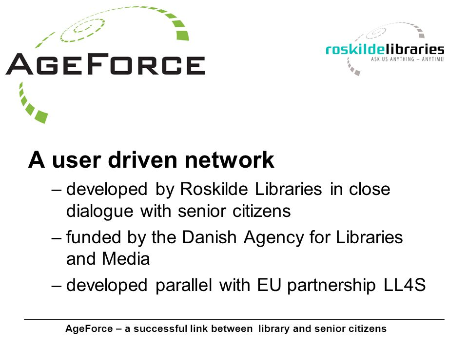 AgeForce – a successful link between library and senior citizens Blogging made easy