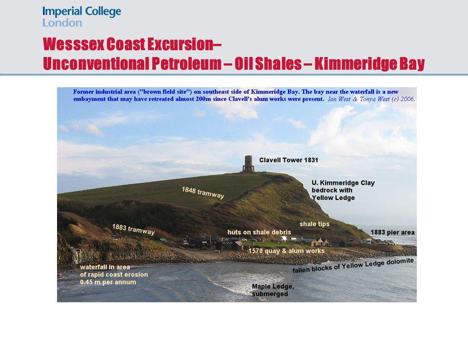 Wesssex Coast Excursion– Unconventional Petroleum – Oil Shales – Kimmeridge Bay