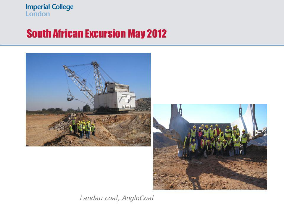South African Excursion May 2012 Landau coal, AngloCoal