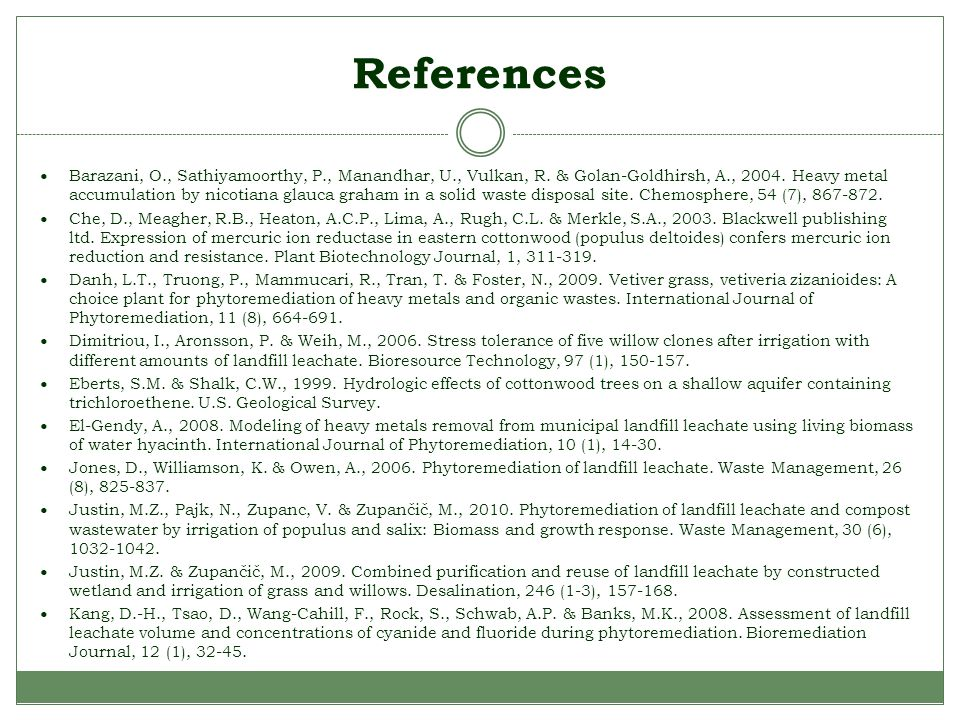 References Barazani, O., Sathiyamoorthy, P., Manandhar, U., Vulkan, R.