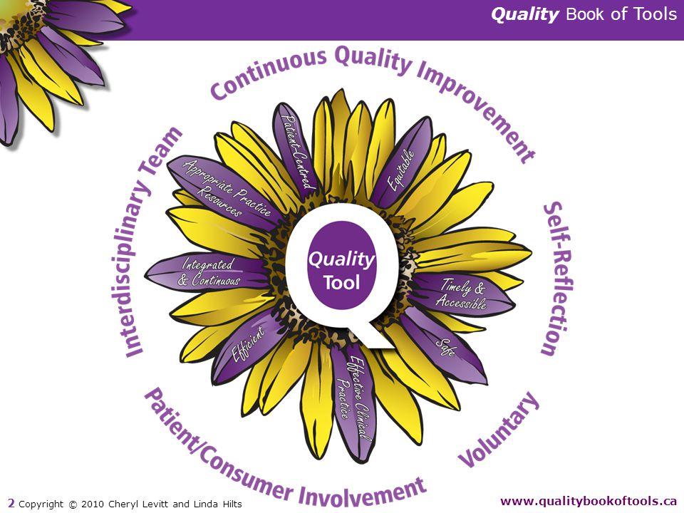 Quality Book of Tools www.qualitybookoftools.ca 2 Copyright © 2010 Cheryl Levitt and Linda Hilts