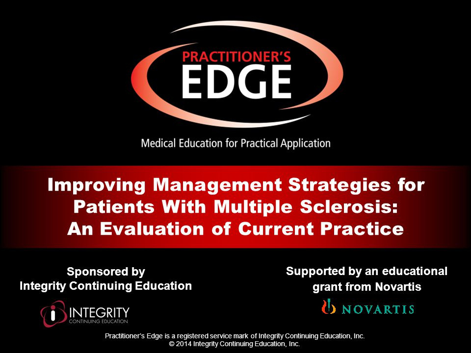 Practitioner's Edge is a registered service mark of Integrity Continuing Education, Inc.