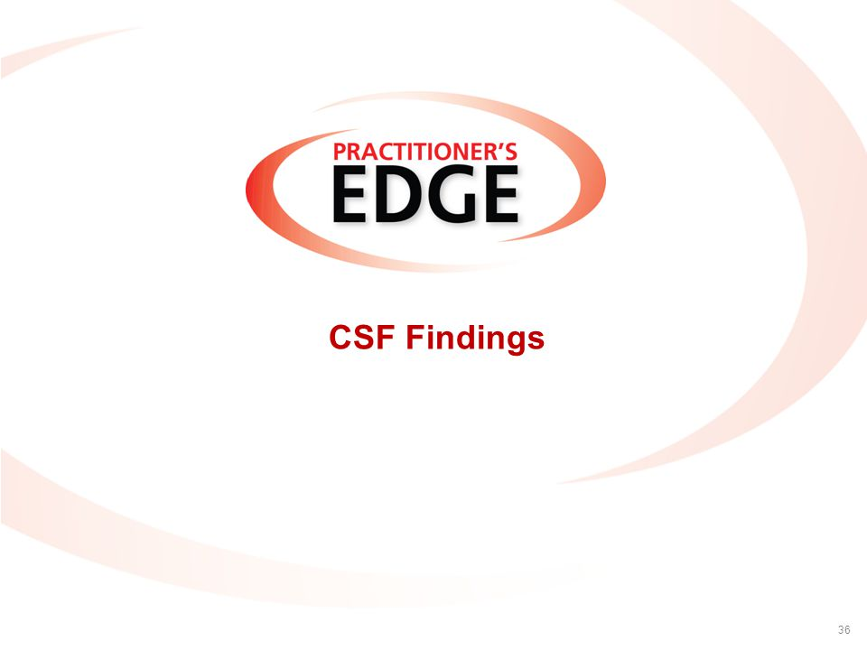 CSF Findings 36