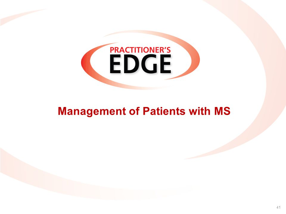 Management of Patients with MS 41