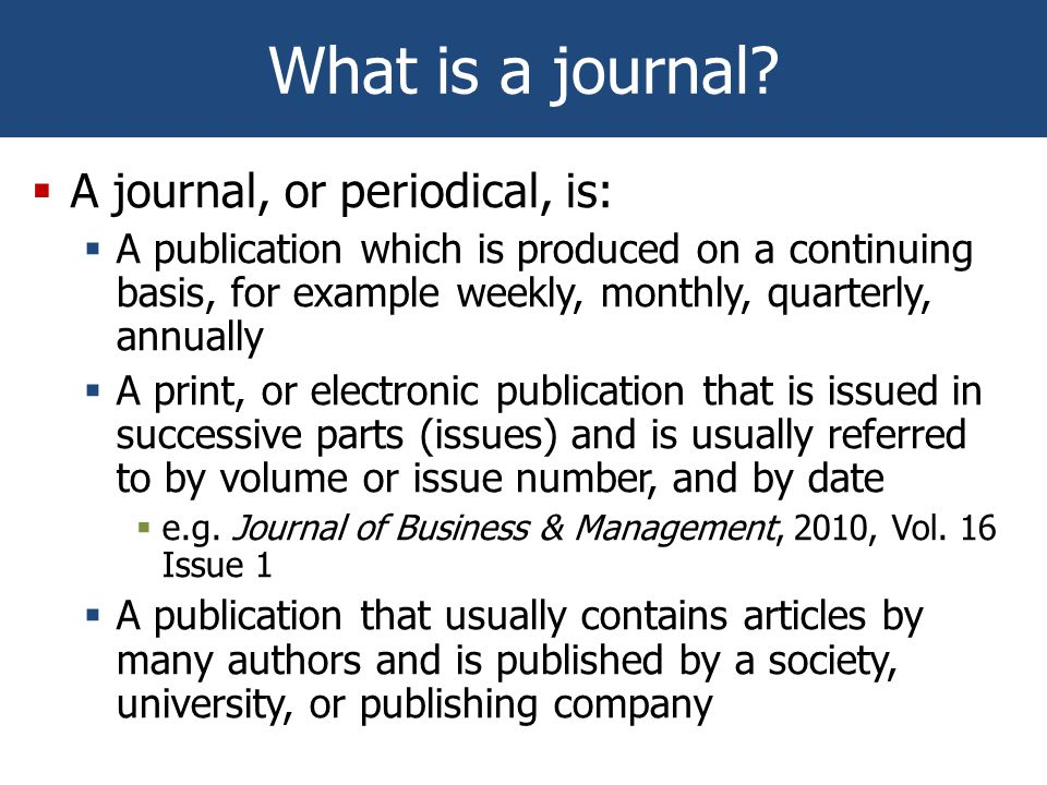 What is a journal.