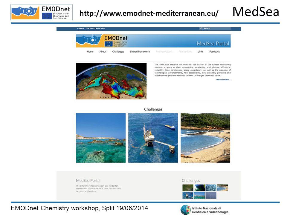 MedSea EMODnet Chemistry workshop, Split 19/06/2014 http://www.emodnet-mediterranean.eu/