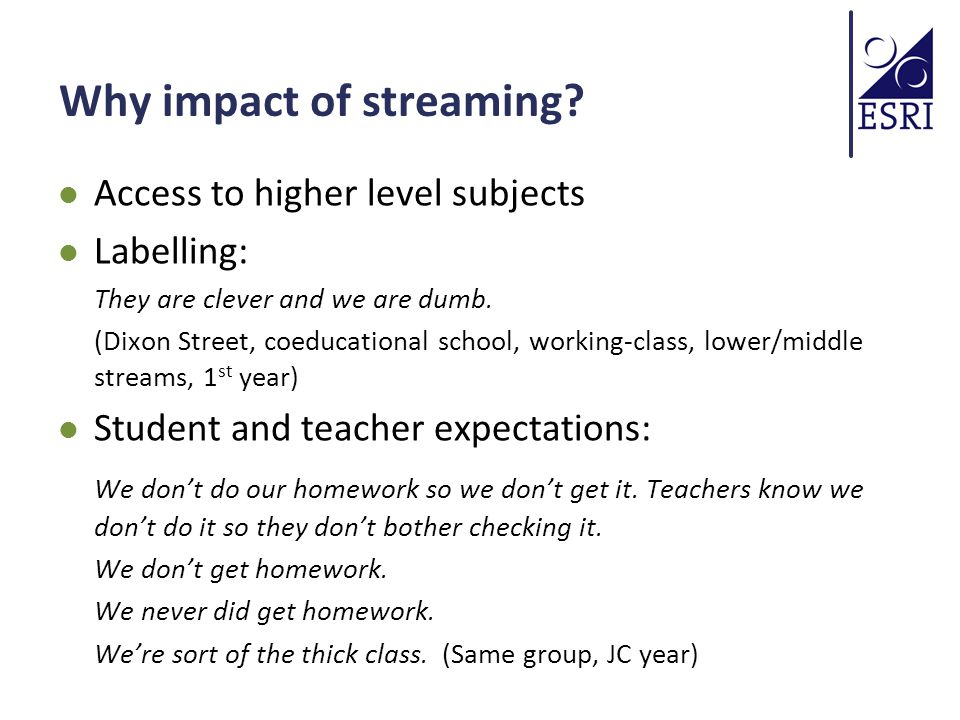 Why impact of streaming.