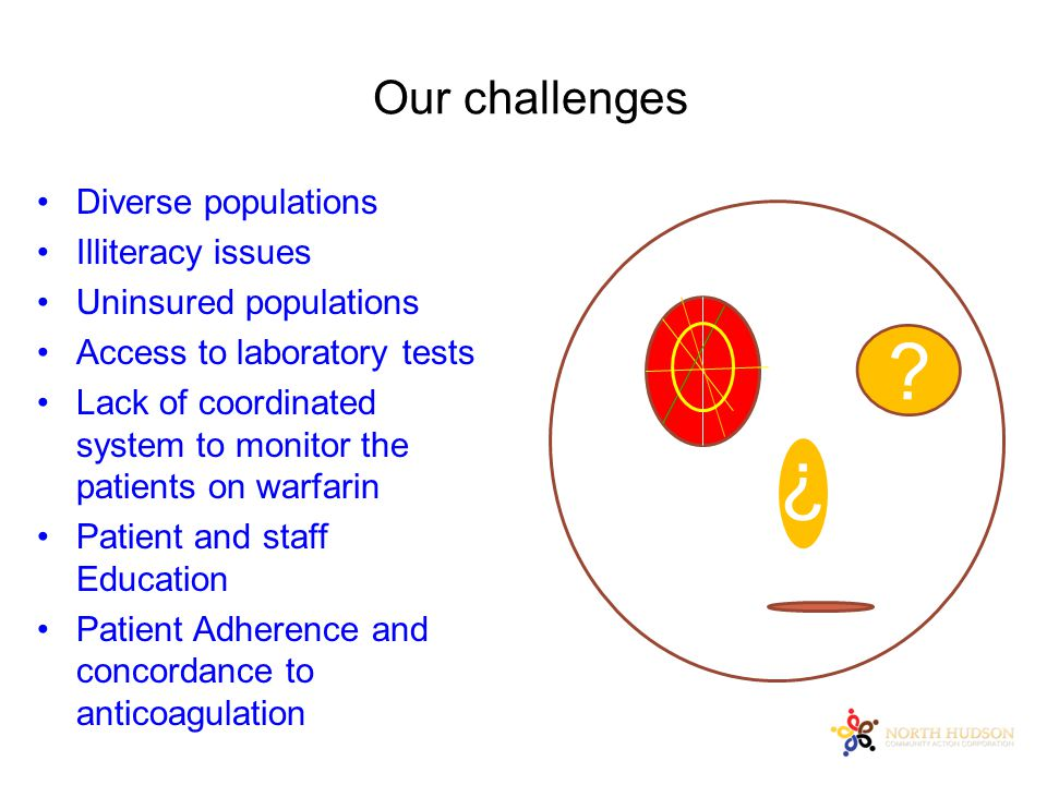 Our challenges ? ? Diverse populations Illiteracy issues Uninsured populations Access to laboratory tests Lack of coordinated system to monitor the pa