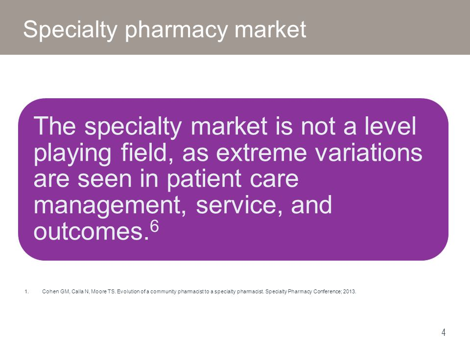 5 SP ModelCharacteristics PBM Owned Structured programs Higher use of technology for patient outreach Strong buying power Ability to shift costs Specialty pharmacy is a piece of the business Plan Owned Ability to easily view all claims data (medical + pharmacy) Retail Owned Community based care Independents More flexible – willingness to customize Specialty pharmacy is primary expertise Focused on patient care and service – more high-touch Greater transparency Specialty pharmacy landscape