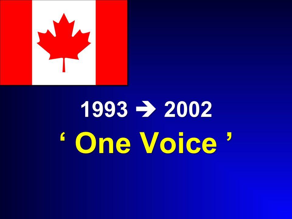 1993  2002 ' One Voice '