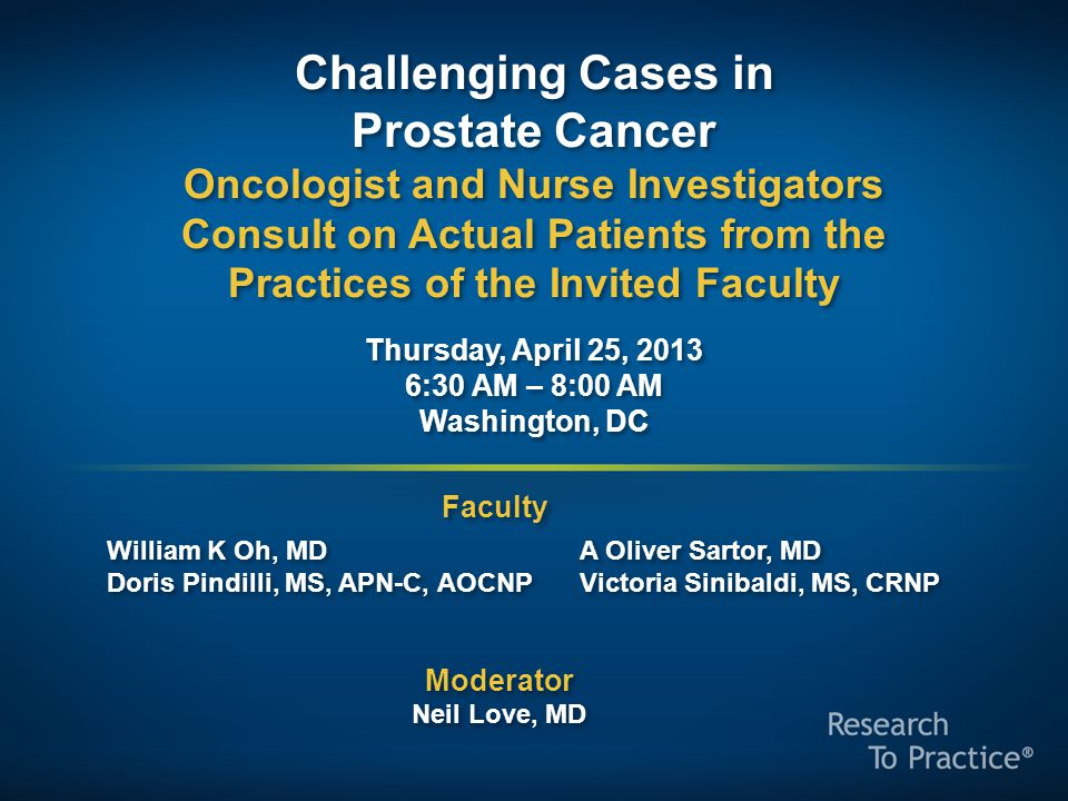 The Endocrine Axis in Prostate Cancer
