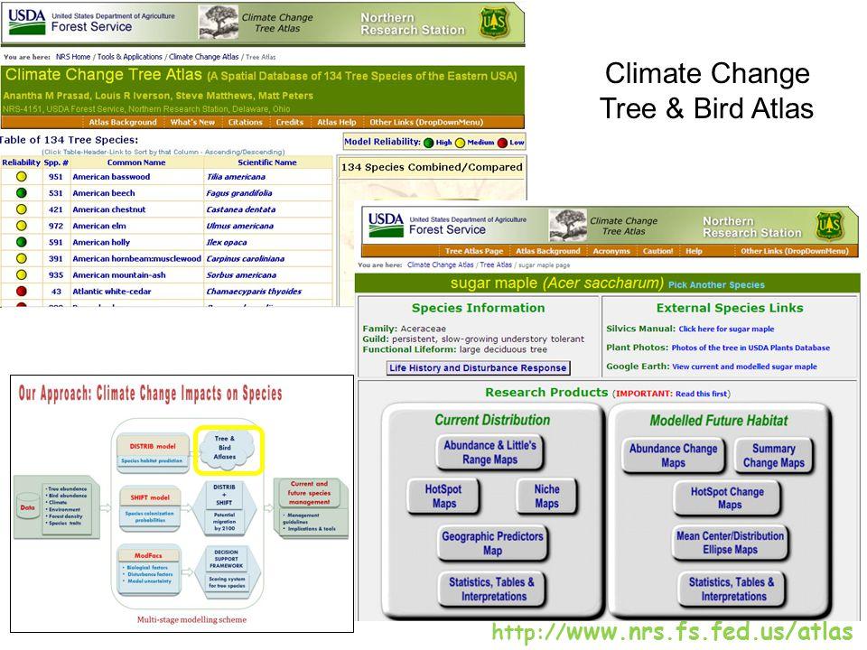Climate Change Tree & Bird Atlas http:// www.nrs.fs.fed.us/atlas