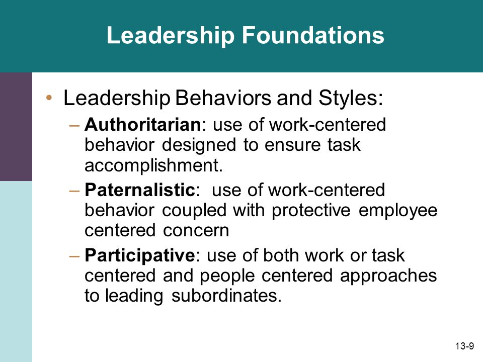 13-10 Leadership Foundations