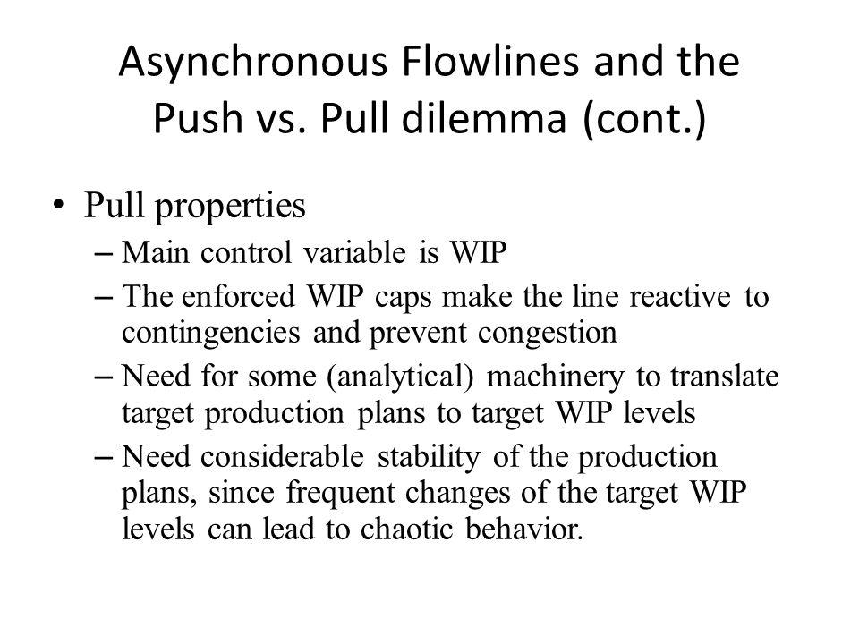 Asynchronous Flowlines and the Push vs.
