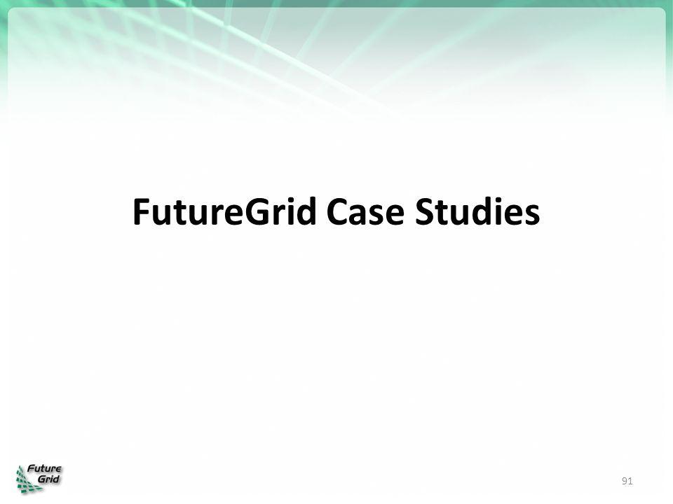 FutureGrid Case Studies 91