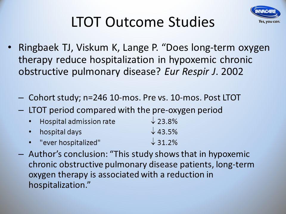 LTOT Outcome Studies Ringbaek TJ, Viskum K, Lange P.