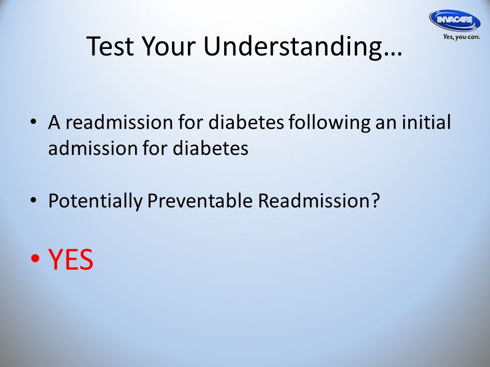 Test Your Understanding… An admission for trauma following a discharge for AMI Potentially Preventable Readmission.
