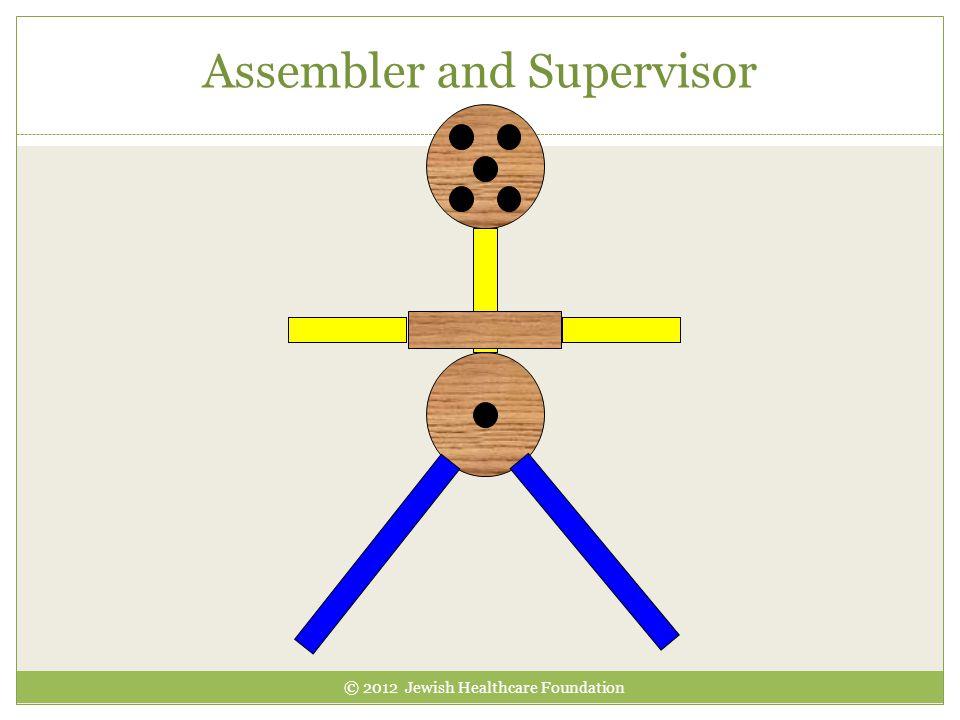 Assembler and Supervisor © 2012 Jewish Healthcare Foundation