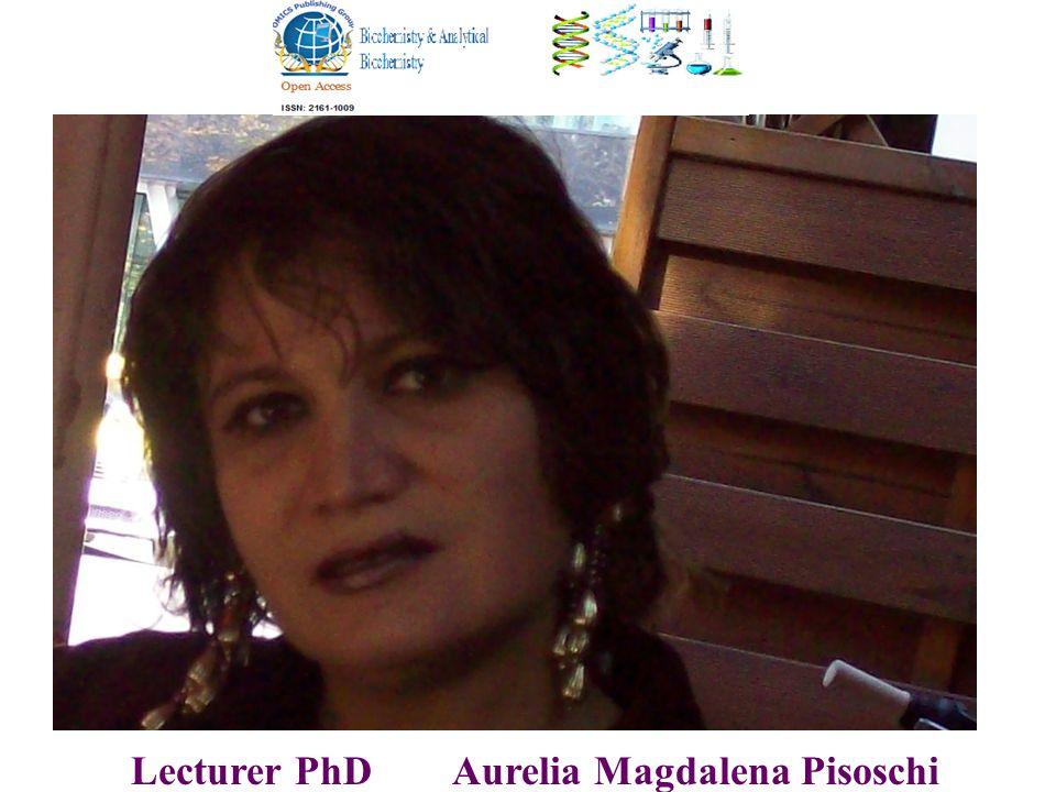 Lecturer PhD Aurelia Magdalena Pisoschi