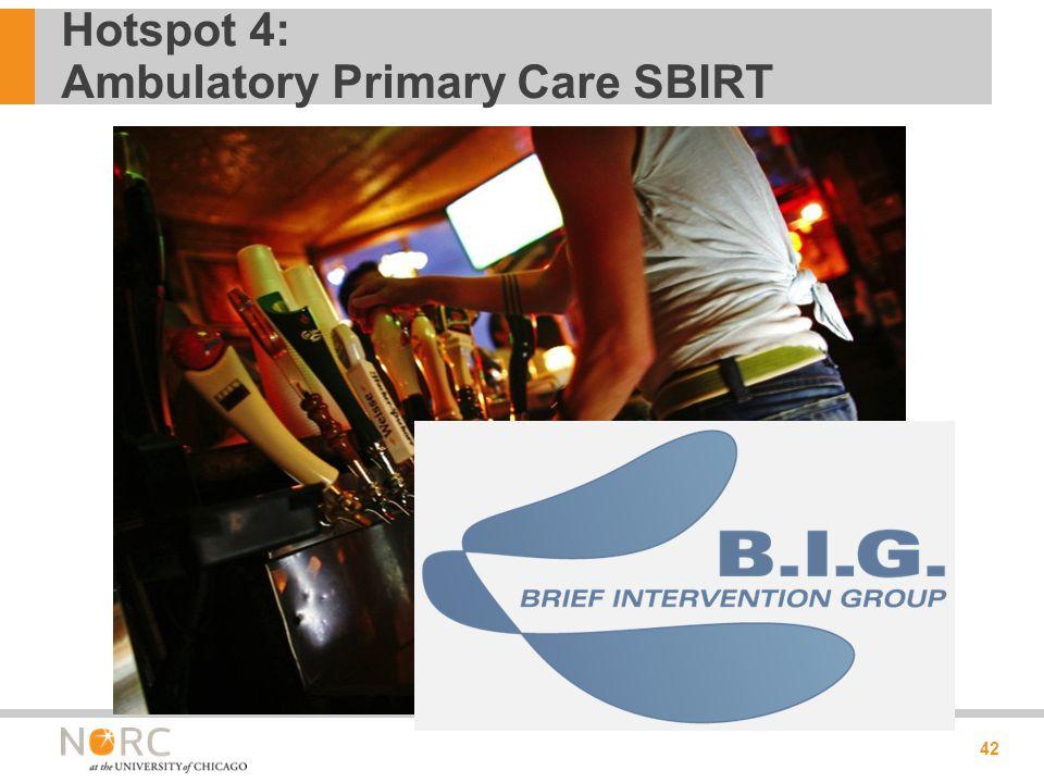 Hotspot 4: Ambulatory Primary Care SBIRT 42