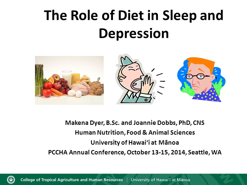 Learning Objectives Describe the relationship between sleep difficulty and depression Discuss research relating essential nutrients to sleep difficulty and depression Identify biomarkers linked to sleep difficulty and depression Identify appropriate/helpful questions regarding a patient's diet that could indicate a role in sleep and depression issues