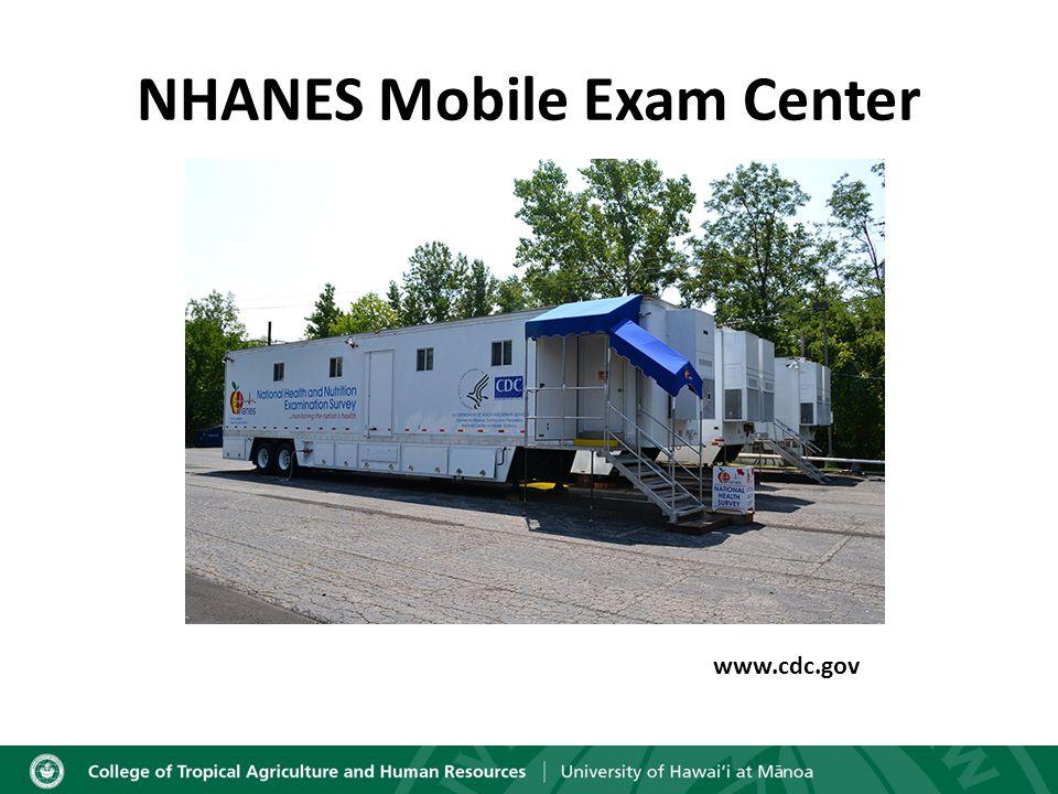 NHANES Mobile Exam Center www.cdc.gov