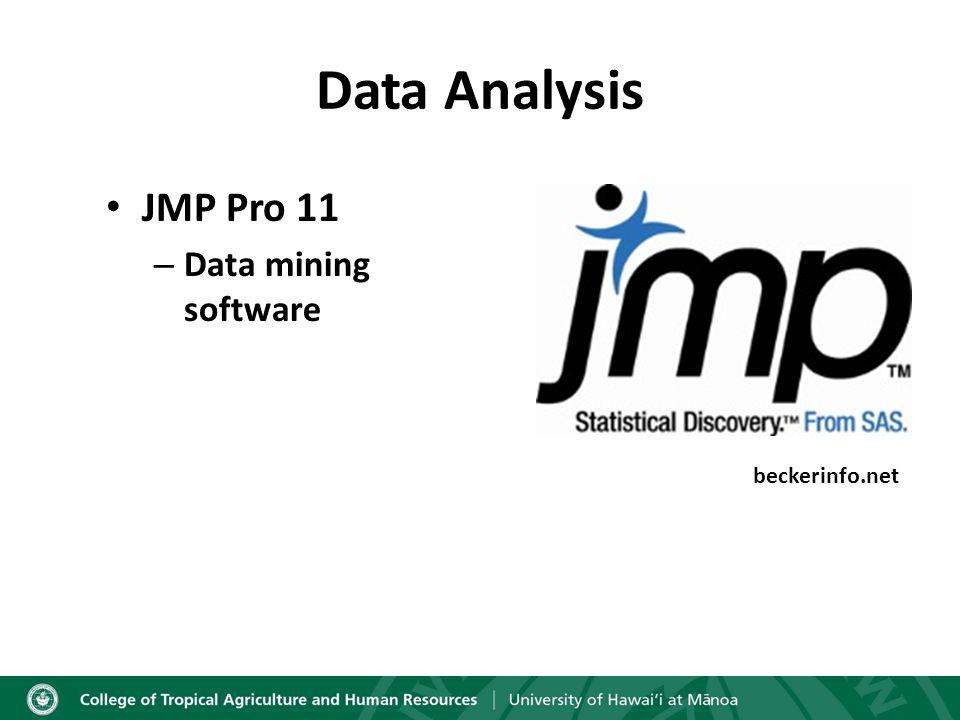 Data Analysis JMP Pro 11 – Data mining software beckerinfo.net