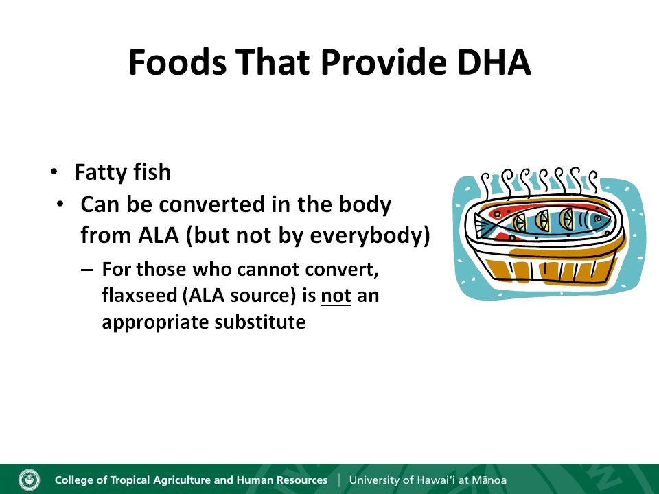 Foods That Provide DHA