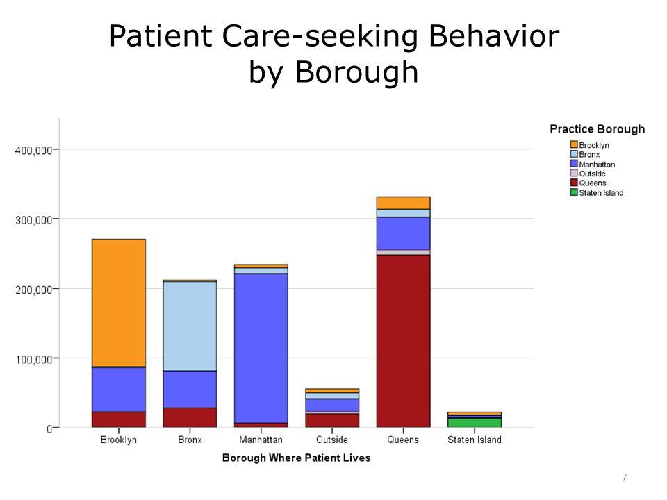 Patient Care-seeking Behavior by Borough 7