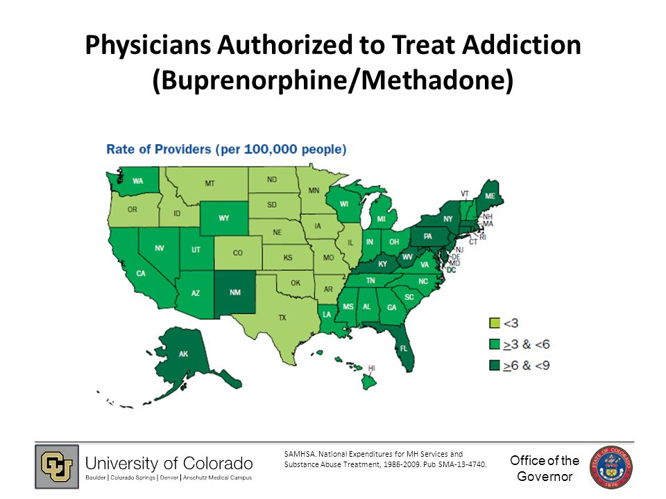 Office of the Governor Physicians Authorized to Treat Addiction (Buprenorphine/Methadone) SAMHSA.