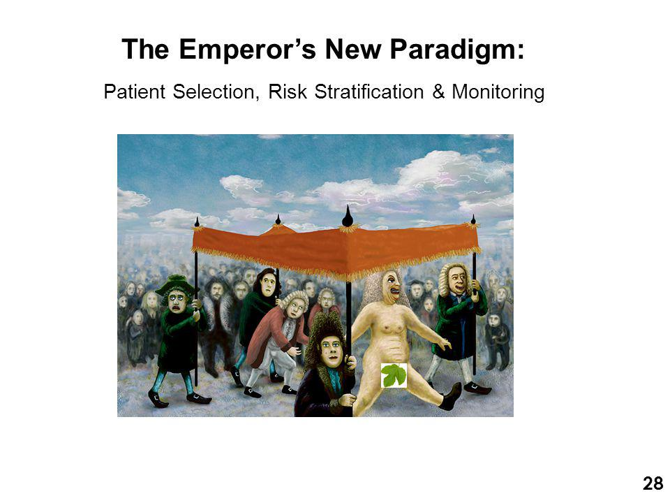 The Emperor's New Paradigm: Patient Selection, Risk Stratification & Monitoring 28