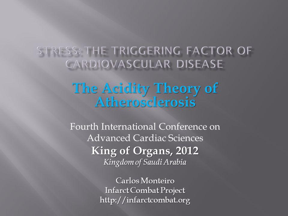 The Acidity Theory of Atherosclerosis Fourth International Conference on Advanced Cardiac Sciences King of Organs, 2012 Kingdom of Saudi Arabia Carlos
