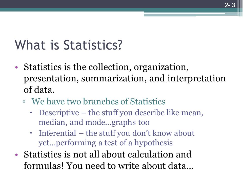 What is Statistics.