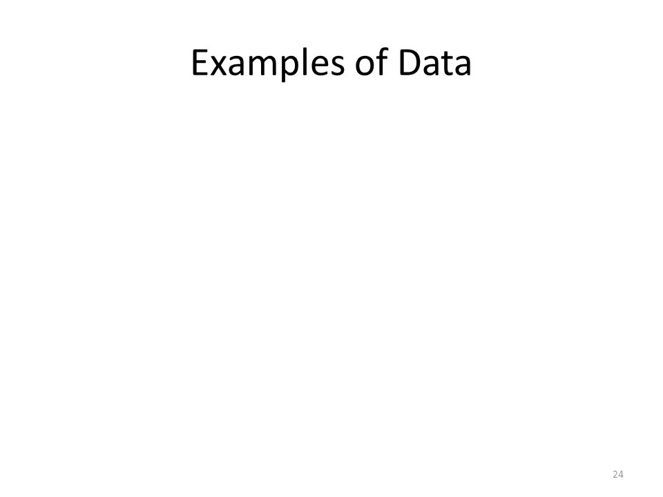 Examples of Data 24