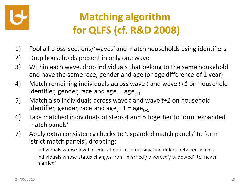 Matching algorithm for QLFS (cf.