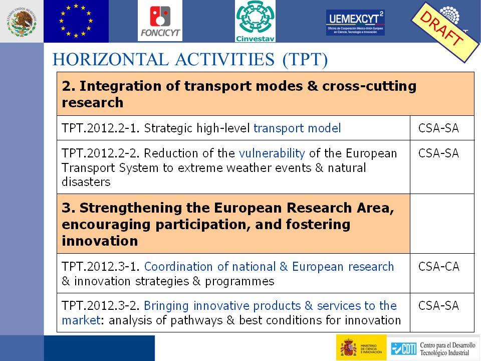 HORIZONTAL ACTIVITIES (TPT)